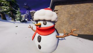 where to find sneaky snowman fortnite