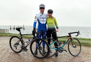 Fabio Jakobsen (Deceuninck-QuickStep) and his girlfriend Delore