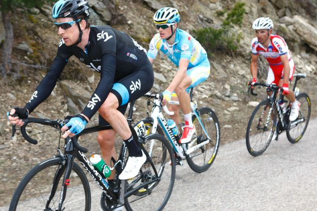 Bradley Wiggins and Jakob Fuglsang, Volta a Catalunya 2013, stage four