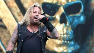 Vince Neil onstage in 2019