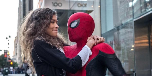 MJ and Spider-Man in Far From Home