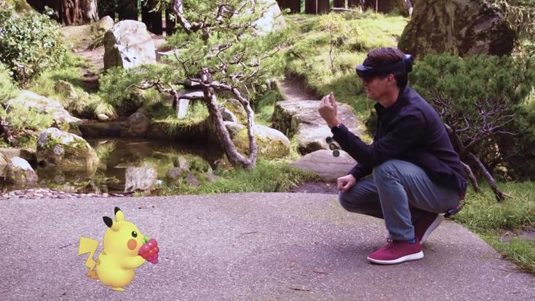 Pokemon Go HoloLens demo
