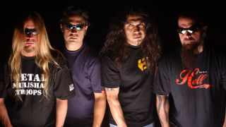 Slayer's classic line-up: (l-r) Jeff Hanneman, Dave Lombardo, Tom Araya, Kerry King