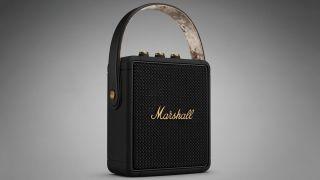 Marshall Stockwell II Black and Brass Bluetooth speaker