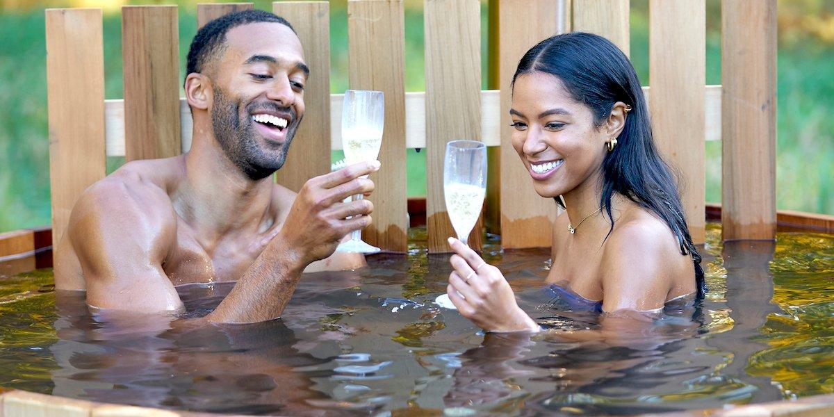 the bachelor season 25 matt james bri springs drinking in barrel abc