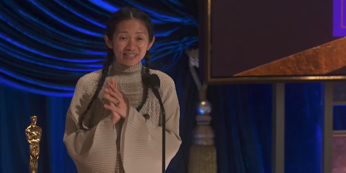 Chloe Zhao wins Best Director for Nomadland at 2021 Oscars