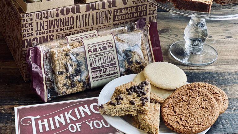 Food gift basket: Lottie Shaw's Thinking Of You Baked Treat Box