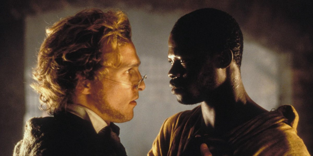 Matthew McConaughey and Djimon Honsou in Amistad