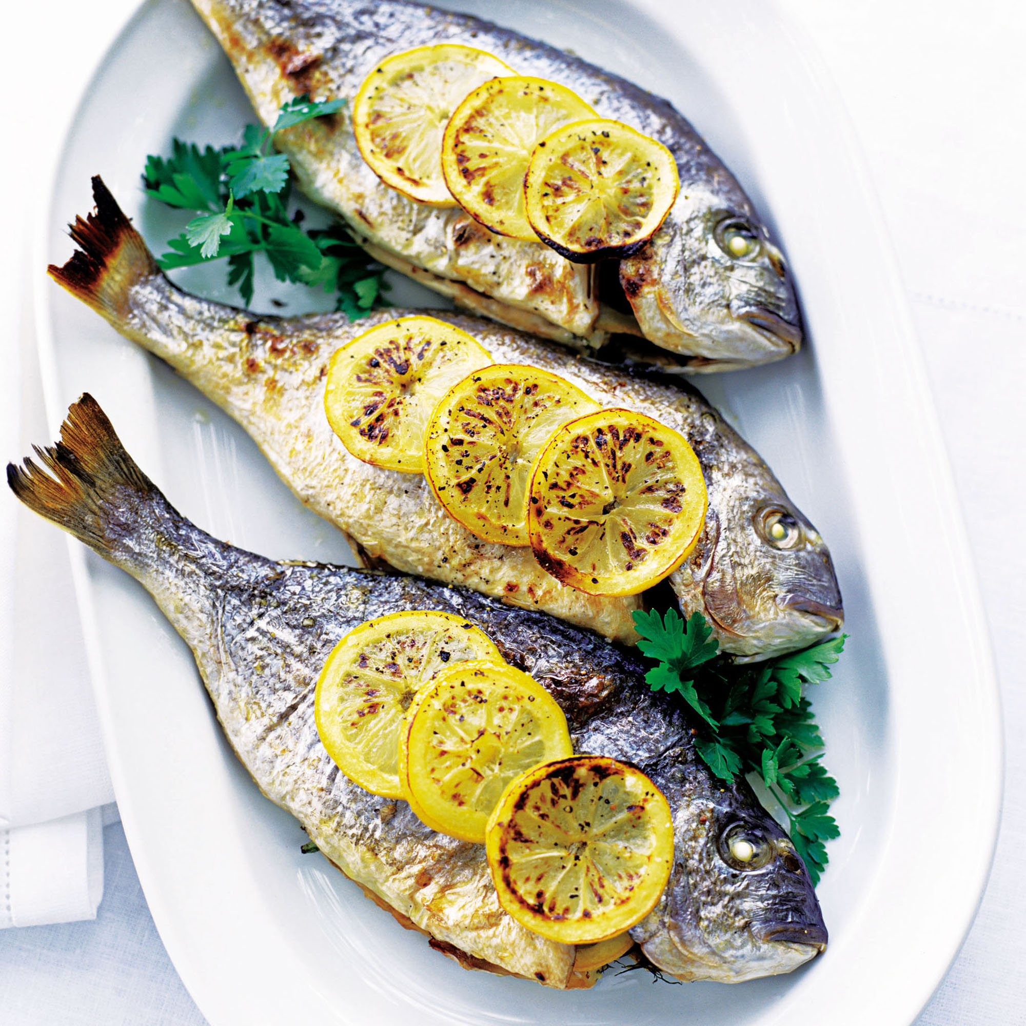 Baked Sea Bream With Lemon And Parsley Dinner Recipes Woman Home