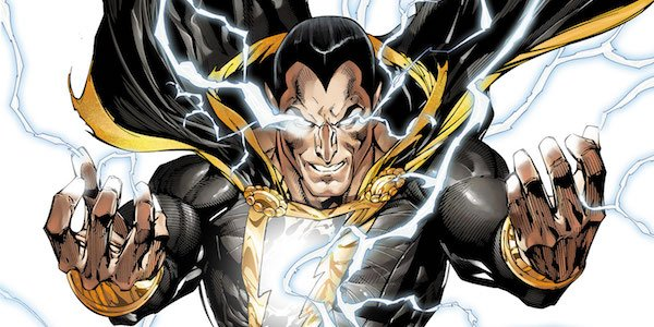 Black Adam unleashing lightning