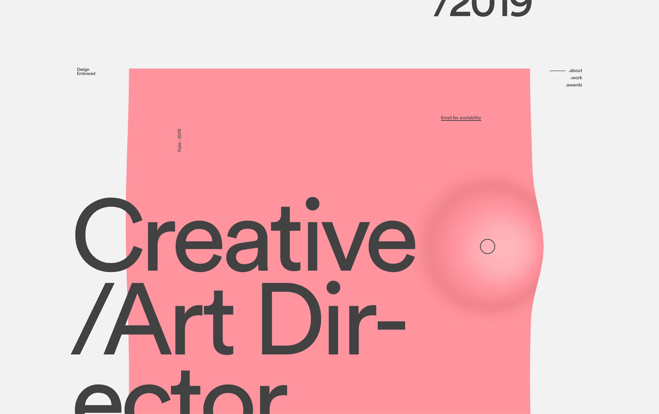 6 of the best new portfolio sites: Design Embraced