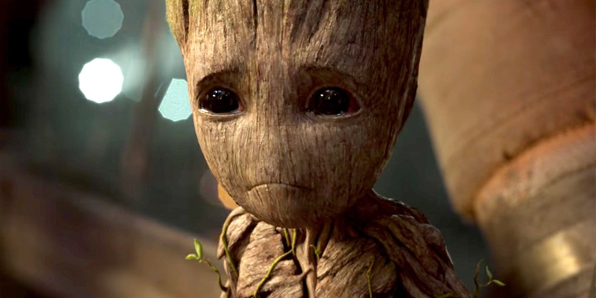 You made Baby Groot cry so feel shame