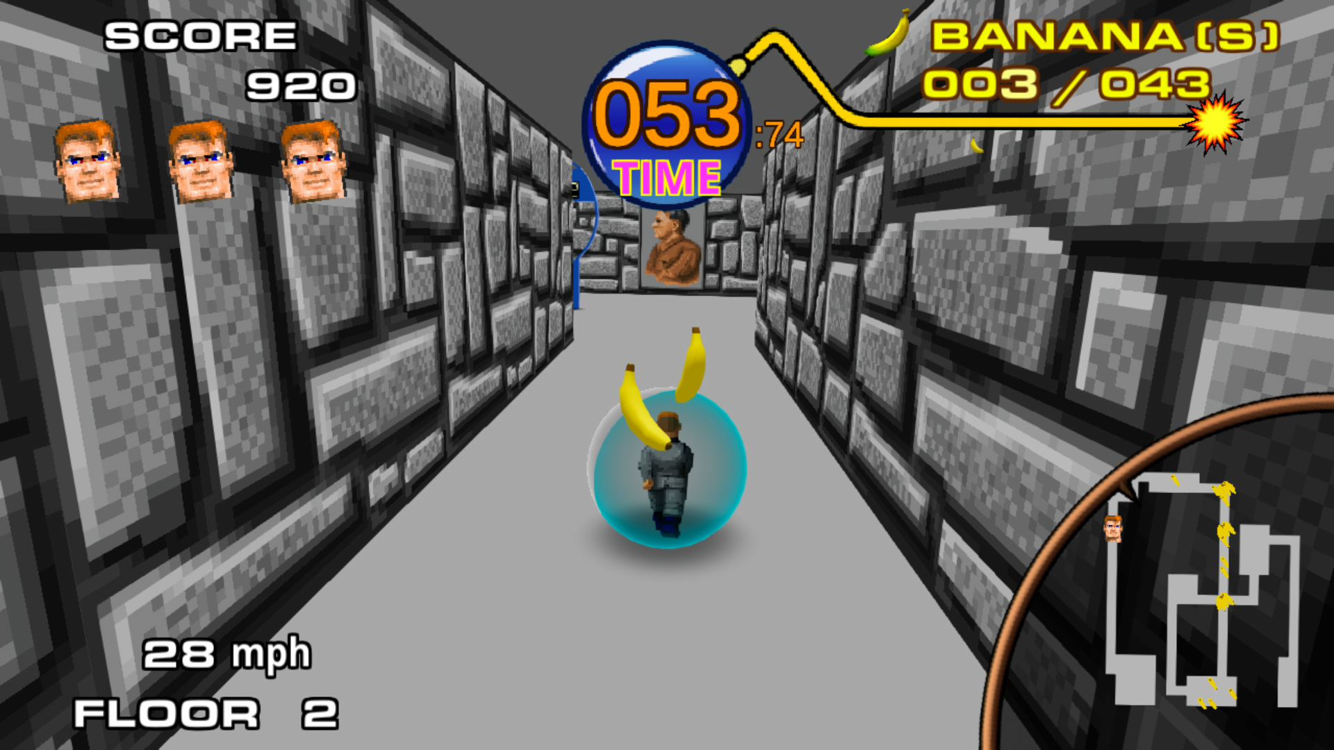 Return to Castle Monkey Ball is exactly what you think it is