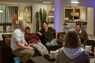 """The cast of """"The Real World: Homecoming: New York"""" in the original loft in New York City."""