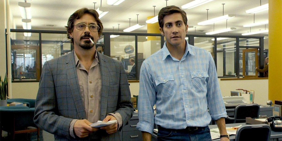 Robert Downey Jr and Jake Gyllenhaal in Zodiac