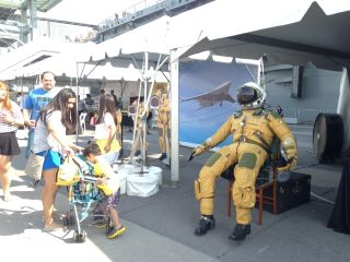 A Spacesuit at the Intrepid Museum