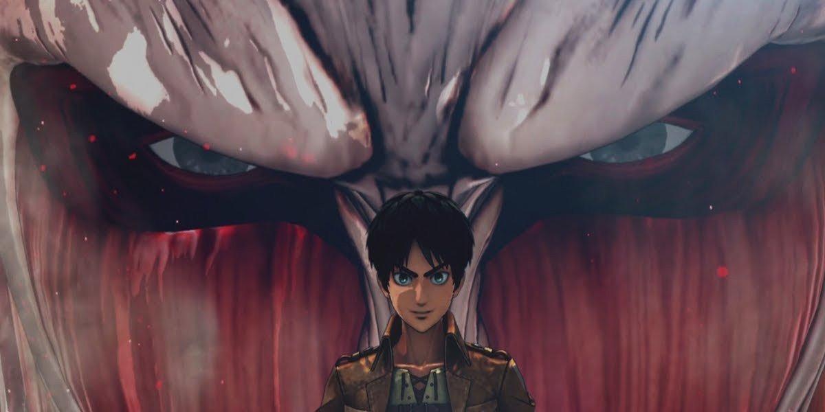 The Colossal Titan behind Eren