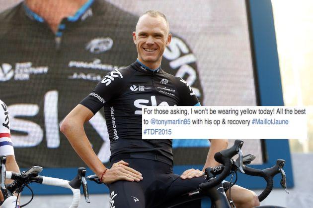 Chris Froome will not wear the Tour de France yellow jersey ... 17bce9d8d