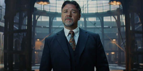 The Mummy Russell Crowe Dr. Henry Jekyll standing proudly in the Prodigium lab