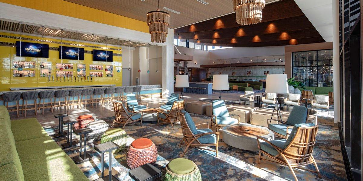 Universal Dockside's VW-themed bar 2020 lobby