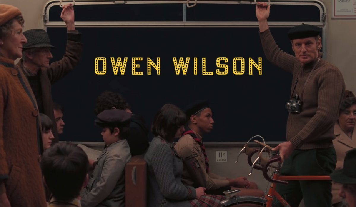 The French Dispatch Owen Wilson riding the subway