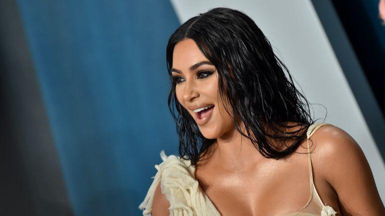 Kim Kardashian West attends the 2020 Vanity Fair Oscar Party