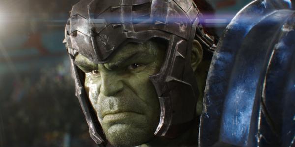 Thor: Ragnarok Hulk scowling in his gladiator armor