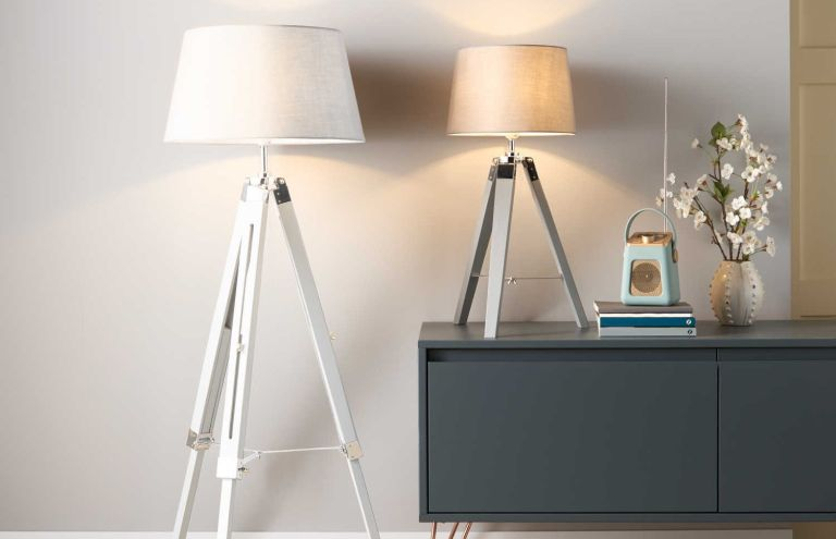 Aldi offers this week: retro white floor lamp from aldi's offers