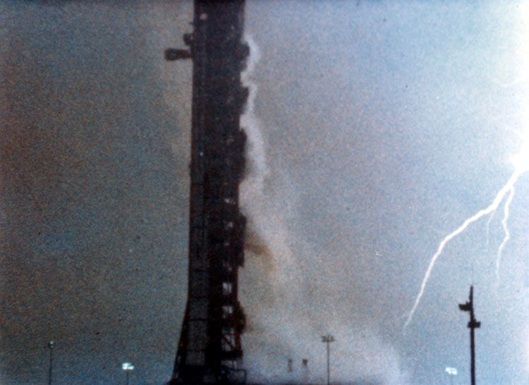 Lightning Strikes Almost Killed the Apollo 12 Mission