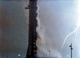 an image of lightning striking apollo 12