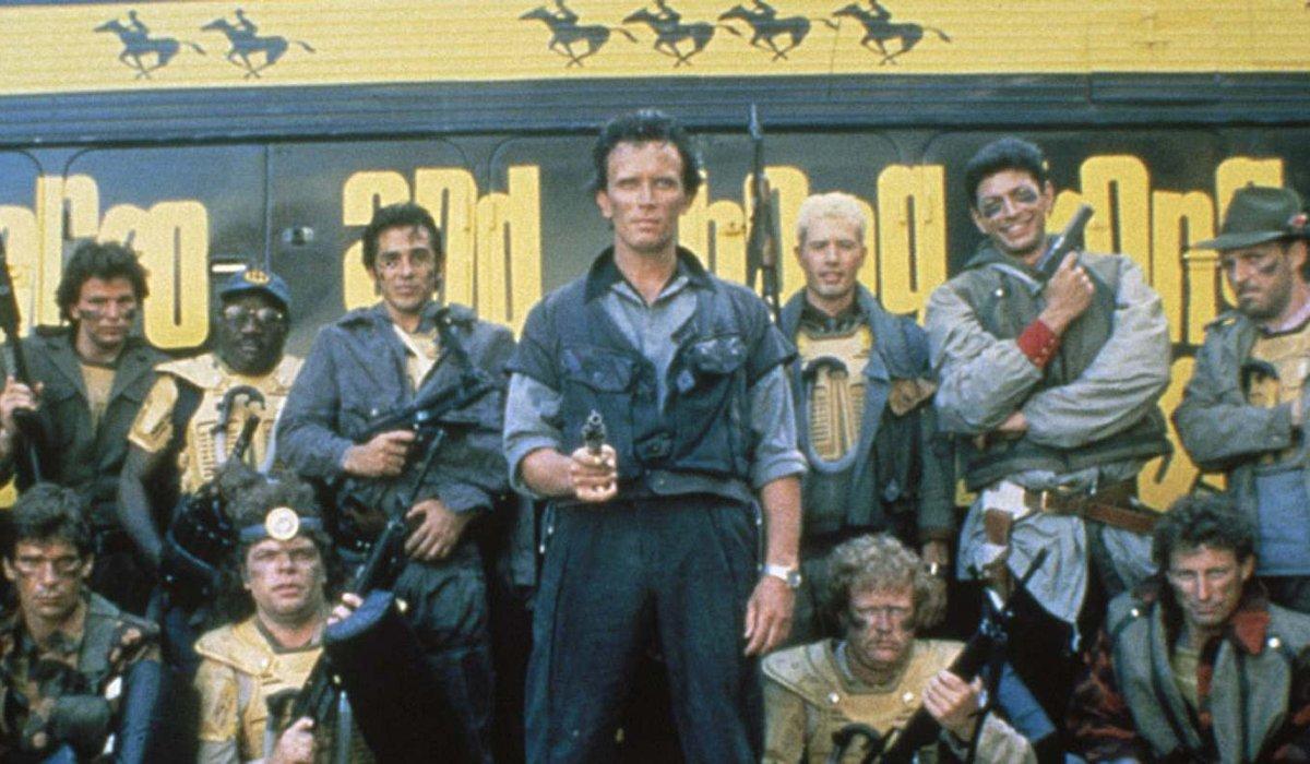 The Adventures of Buckaroo Bonzai Peter Weller and his team stand armed