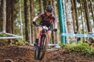 Austrias Laura Stigger competes during the Womens Cross Country competition of the UCI Mountain Bike World Cup in Leogang Austria on June 13 2021 Austria OUT Photo by JFK various sources AFP Austria OUT Photo by JFKEXPAAFP via Getty Images