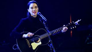 St. Vincent performs a solo acoustic set during The Malibu Love Sesh Benefit Concert at Hollywood Palladium on January 13, 2019 in Los Angeles, California
