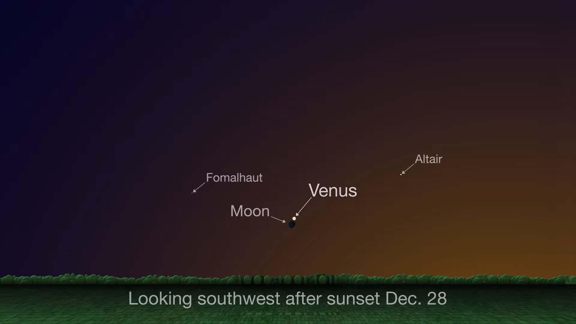 Christmas Sirius Star Directly Overhead 2020 See Venus and the Moon Shine Together in Post Christmas Gift