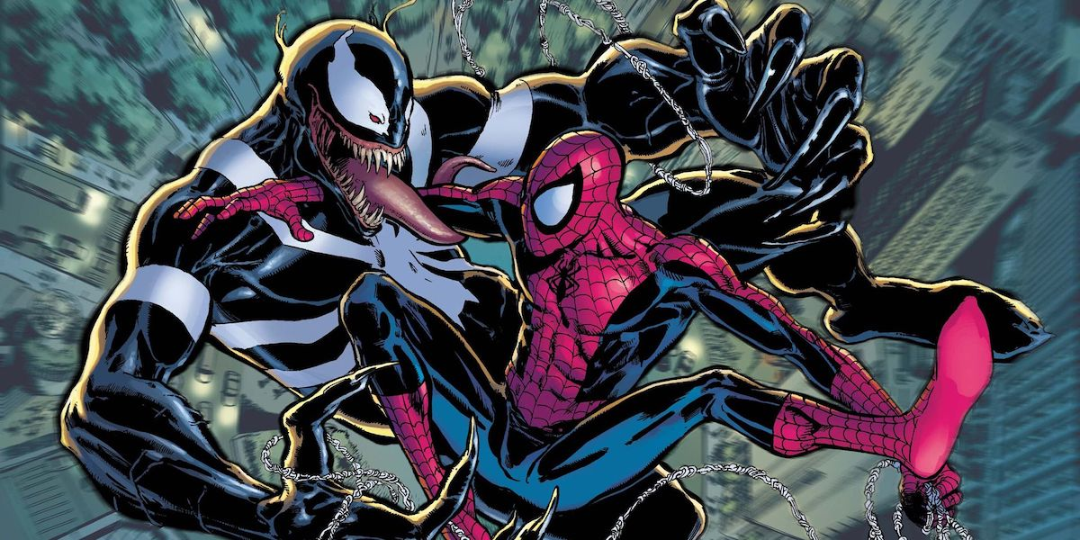 Venom and Spider-Man in the comics