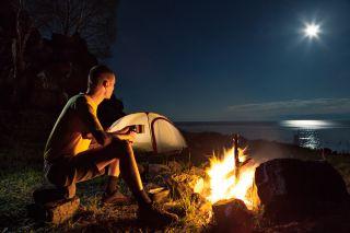 camping, campfire