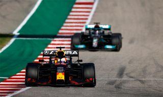 Max Verstappen racing on an F1 live stream