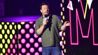 Jamie Oliver speaks at WE Day UK 2020.