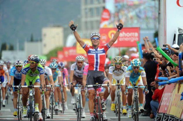 Thor Hushovd wins Vuelta a Espana 2010 stage six