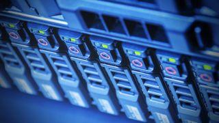 Stock image of server storage