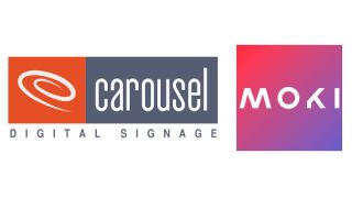 Carousel Digital Signage and Moki logos