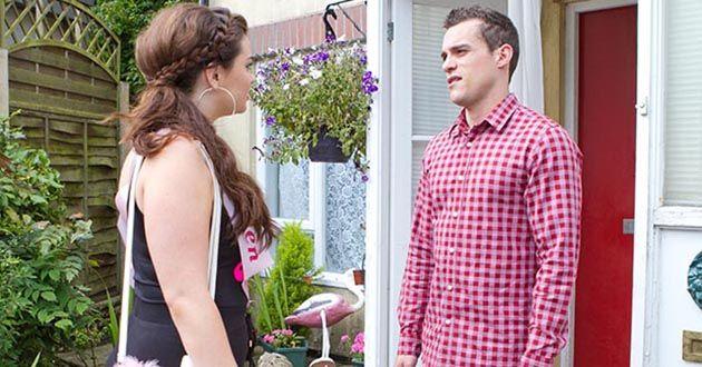 Celine McQueen bumps into Jesse Donovan in Hollyoaks.