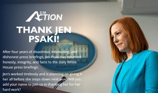 Jen Psaki, White House press secretary