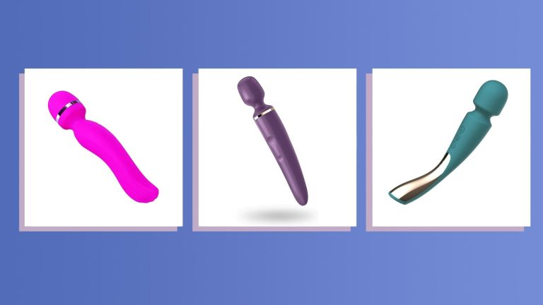 Three pictures of the Best body wand vibrators side-by-side