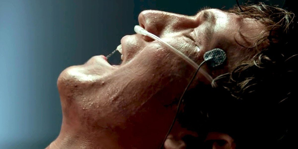 Miles Teller in pain