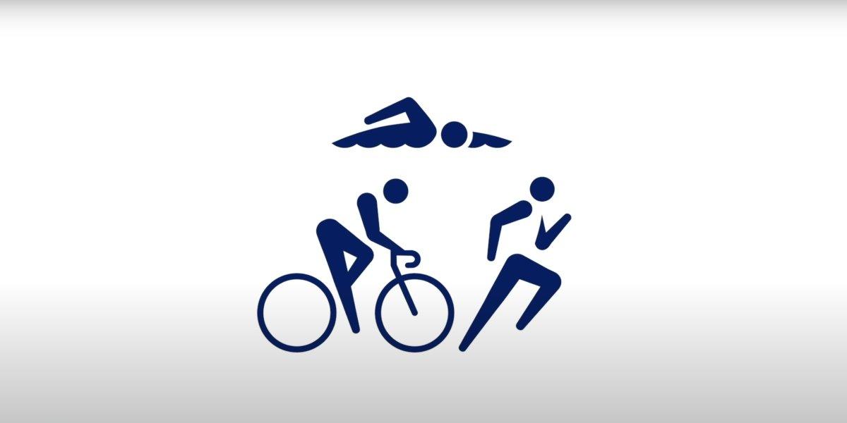 The triathlon pictogram