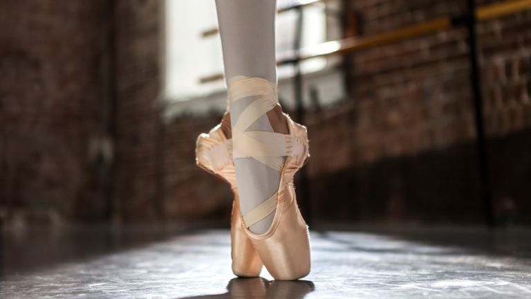Ballet pointe shoes
