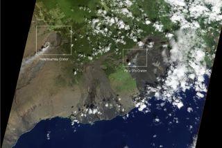 Kilauea - Kilauea volcano from space