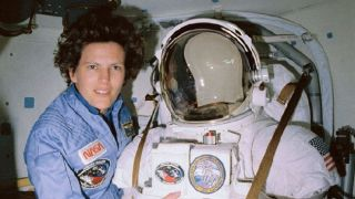 Kathy Sullivan, the first American woman to go on a spacewalk.