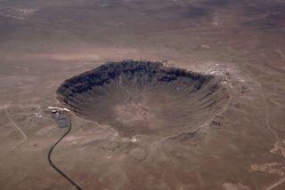 meteor impact, crater